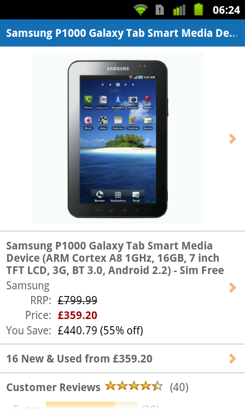Samsung Galaxy Tab Price Drop