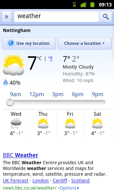 Google Mobile Weather