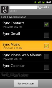 Music sync coming to Gingerbread?