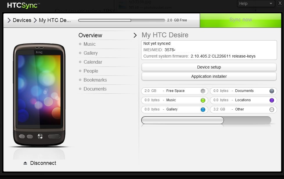New HTC Sync version now available