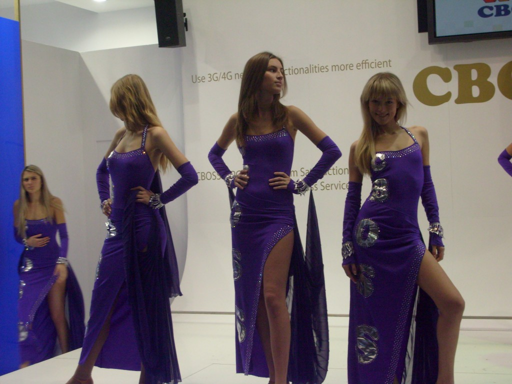 The CBOSS girls at Mobile World Congress