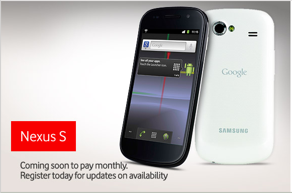 Vodafone To Stock White Nexus S Exclusive