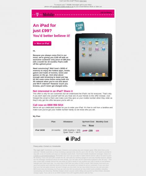 T Mobile iPad
