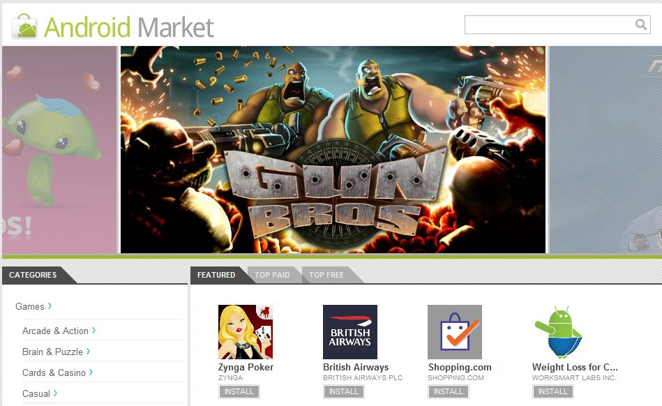 Android Web Store Launches