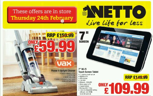 7 Android Tablets, now from Netto too