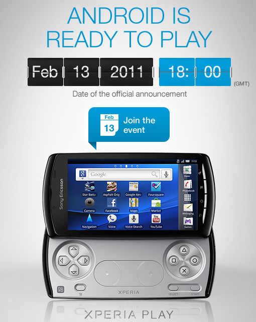 Xperia Play   To be announced at MWC