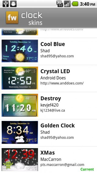 clock fancy widget 4