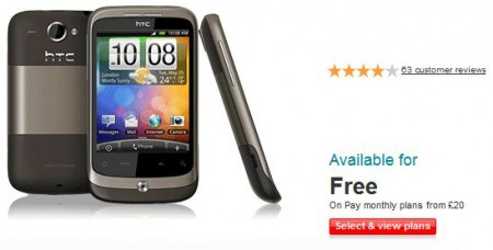 HTC Wildfire S appears on Vodafone website