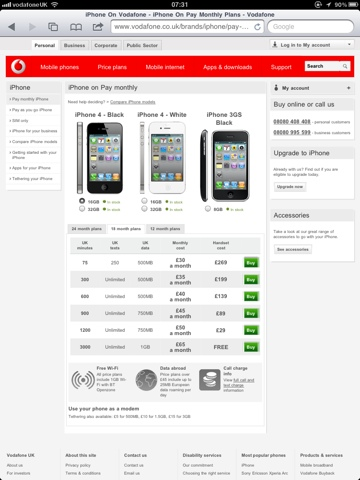 White iPhone Now At Vodafone