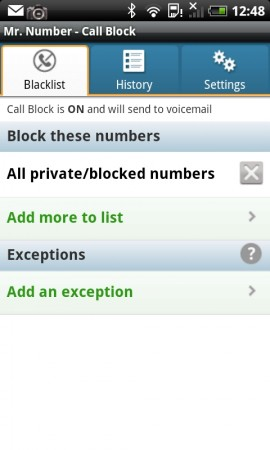 Block unwanted callers with Mr Number