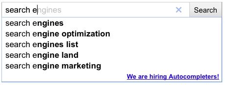 google hiring autocompleters