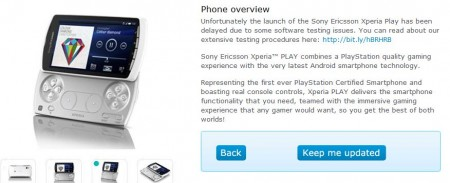 Xperia PLAY on O2   Nearly there..