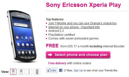 Sony Ericsson Xperia PLAY   Available on T Mobile