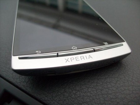 Sony Ericsson Xperia arc   Now on Three, we go close up