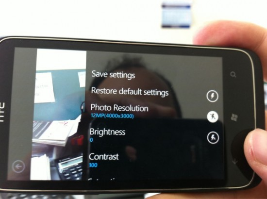 Snapped   Upcoming 12 megapixel HTC Windows Phone