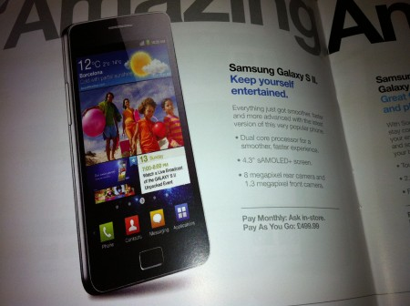 Galaxy S II gets £499.99 price tag on Three Pay As You Go