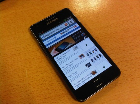 Samsung Galaxy S II on test