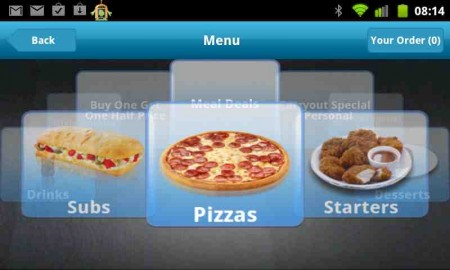 Dominos release pizza delivery app for Android