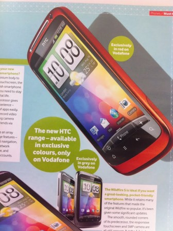 Vodafone offer up exclusive HTC kit