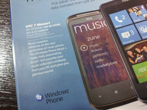 HTC Mozart   £349.99 on O2
