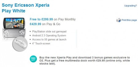 Xperia PLAY now on O2