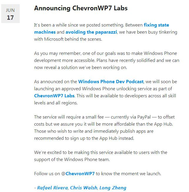ChevronWP7 will jailbreak your Windows Phone