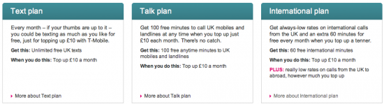 New T Mobile PAYG Plans
