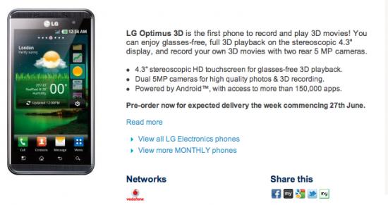 LG Optimus 3D Launching 27th June?