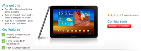 Vodafone to offer the thinner Galaxy Tab after all.