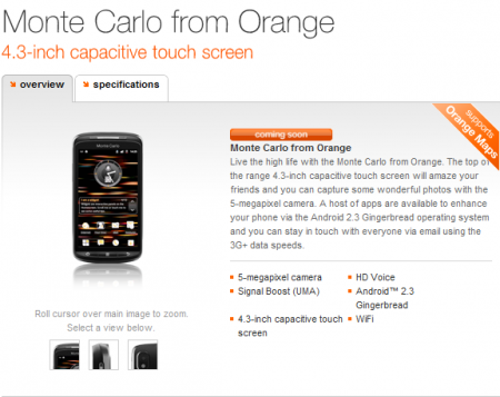 Orange Monte Carlo listed  as Coming Soon.