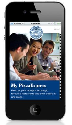 Pizza Express and Paypal new iPhone app.