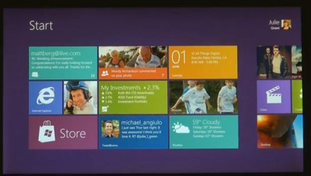 Windows 8 on show, tablet centric UI