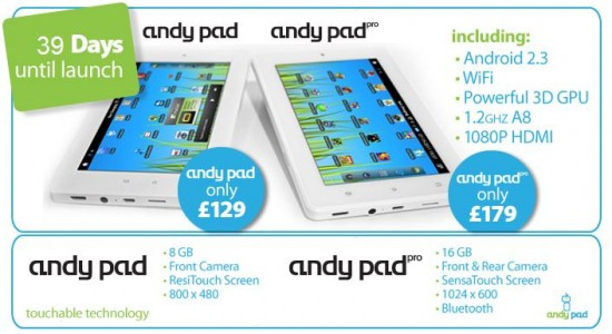 Andy Pad Pro specs and pricing available