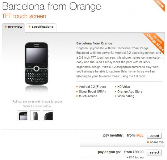 Orange Barcelona now available