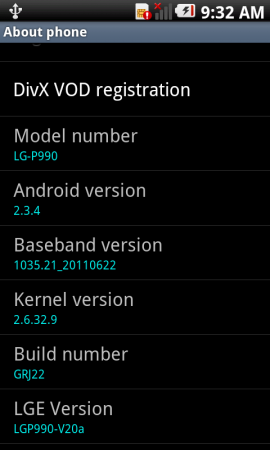 Gingerbread 2.3.4 for the LG Optimus 2X ..finally...?