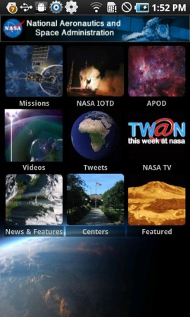 Nasa Release official App for iOS and Android.