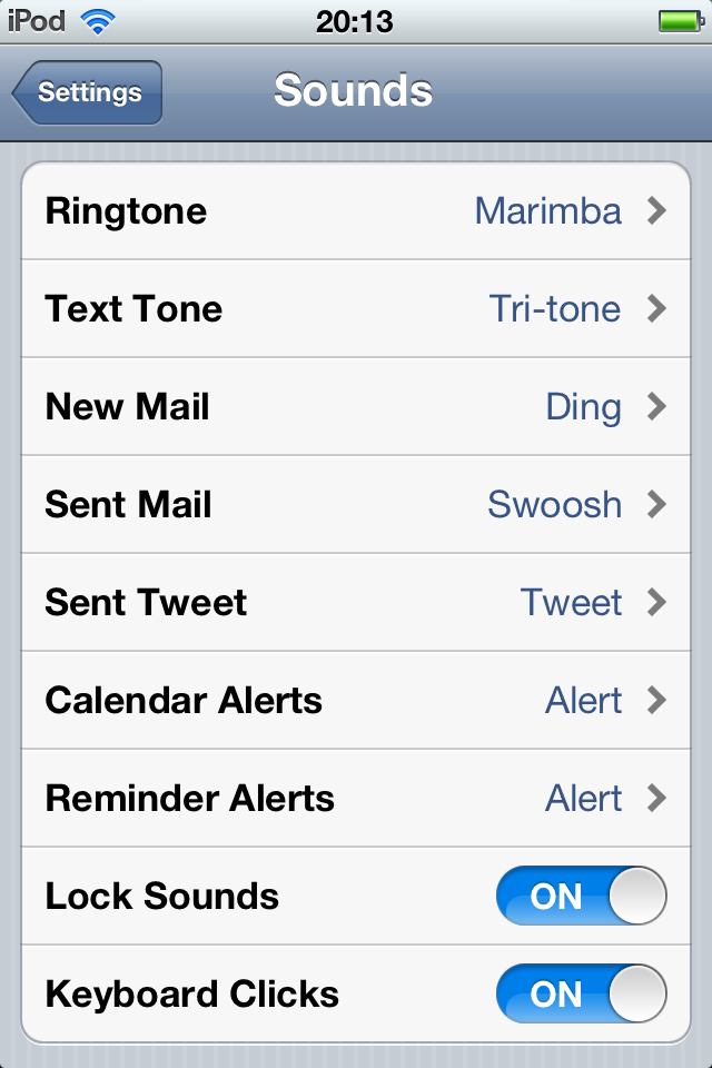 iOS gets custom notification tones