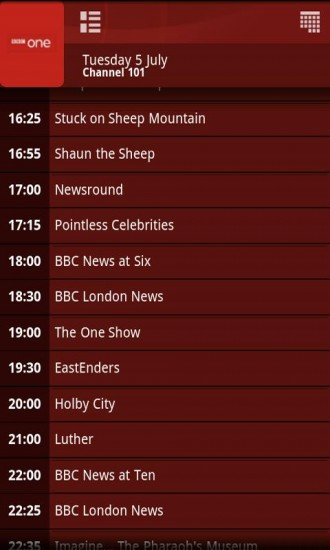 Virgin Media TiVo Android App