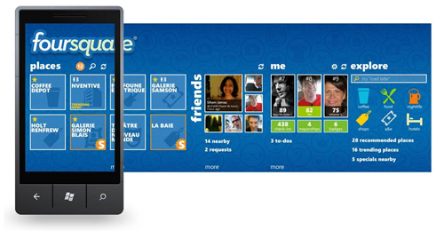 Foursquare for Windows Phone 7 rereleased