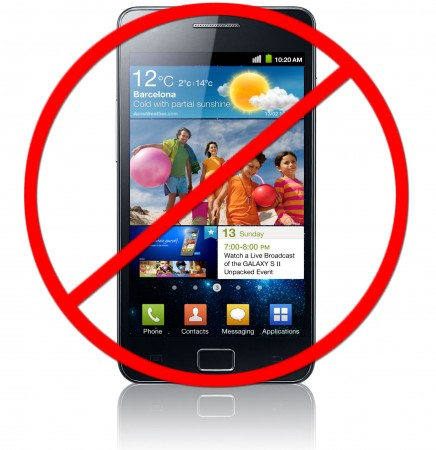 Samsung Galaxys banned from sale in Europe