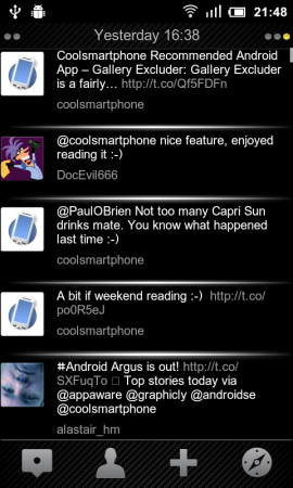 Coolsmartphone Recommended Android App   Tweetdark