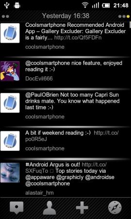 Coolsmartphone Recommended Android App   Tweetdark