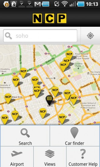 Find a parking space easier with the NCP Android app