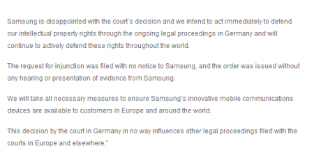 Updated....Apple blocks Samsung from selling 10 Tab in Europe.