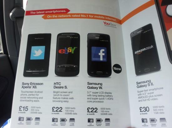 Three Price Up Samsung Galaxy W