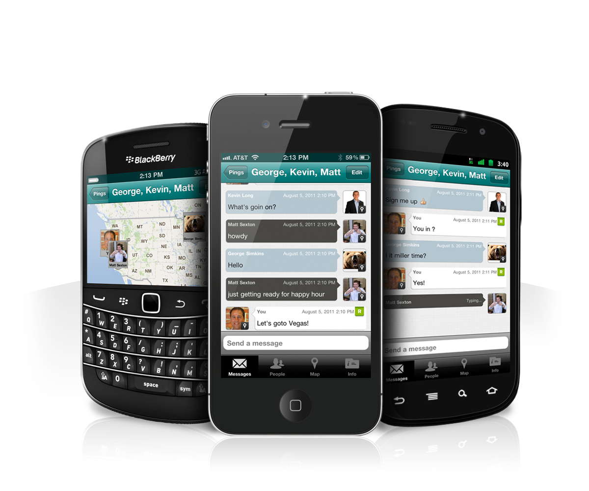 PingMe phones front light