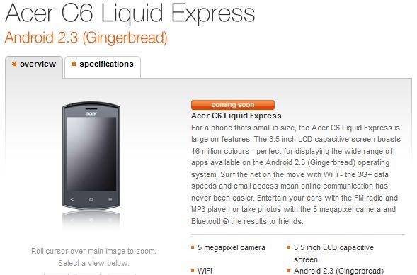 acer c6 liquid express