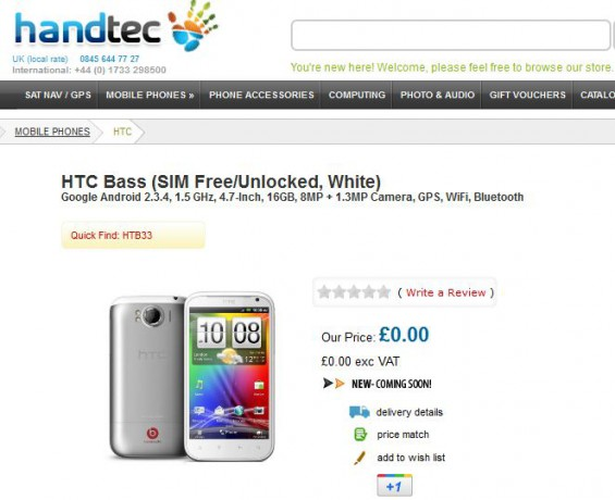 HTC Runnymede to arrive in Europe as the HTC Bass?