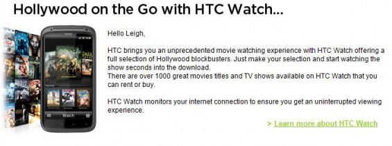 HTC Watch getting the big push
