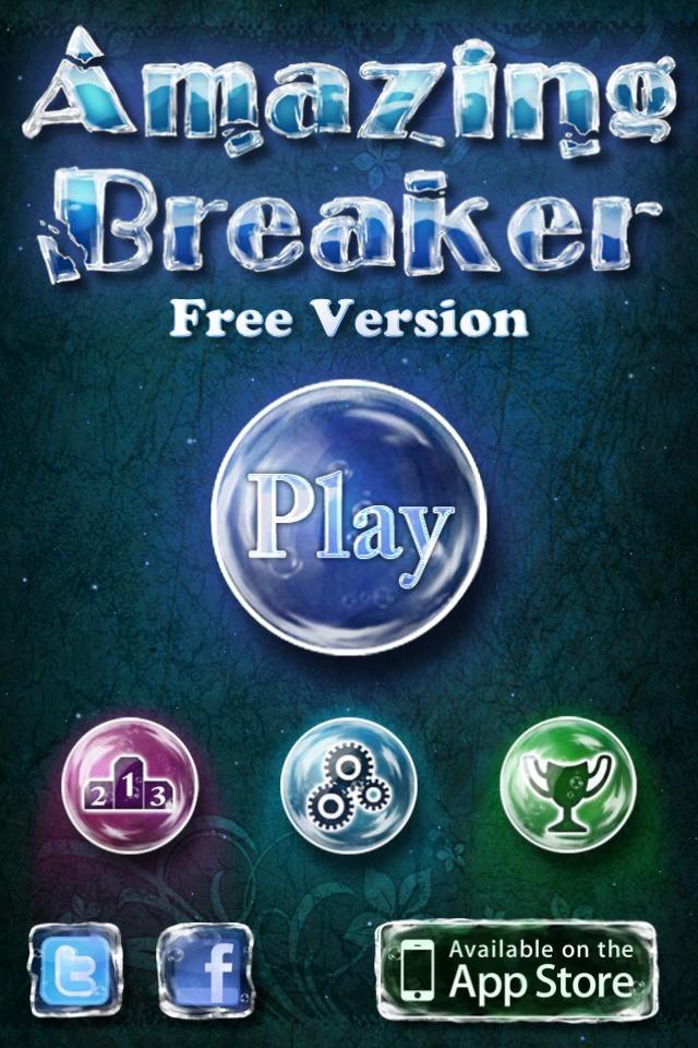 Amazing Breaker title screen